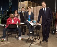 The Cast of 30 Rock, well before they axed Dratch for Krakowski