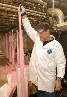 Pink bats being made