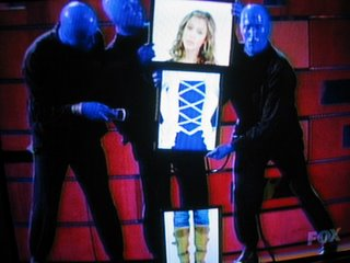Jessica Alba has a foursome with the Blue Man Group