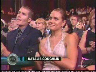 Natalie Coughlin was robbed and what's up with that dude's sideburns.  I hope that wasn't her date.