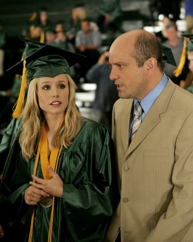 Keith and Veronica Mars at graduation