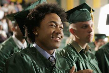 Wallace at graduation