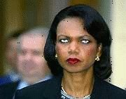 Condi is beginning to dislike this European and thinks he has a Scousers accent..Indeed the Lady thinks to much