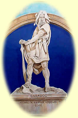 Caractucus-Caradoc..Detail from the mural in Pigmeadow Lane, depicting Caradoc (by David Whittley).jpg