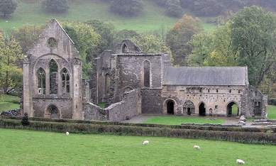 Valle Crucis Abbey near Llangollen North Wales 12 th c build