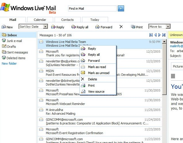 how to delete unsent message in windows live mail