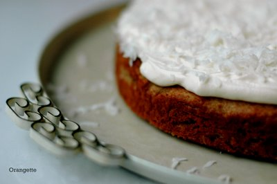 Banana Cake with Coconut-Cream Cheese Frosting