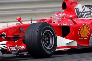 Micheal Schumacher In Action During Qualifying.