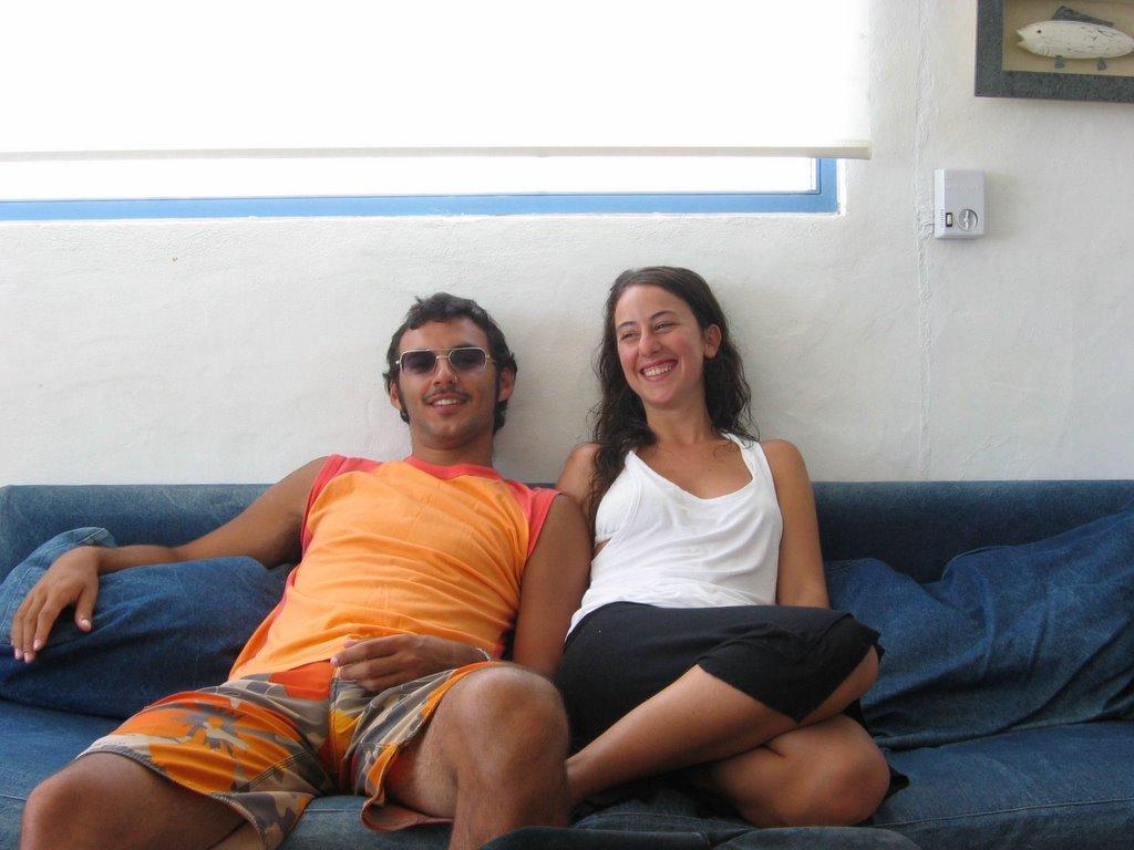 Con mi amiga violeta