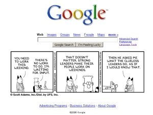 Google homepage
