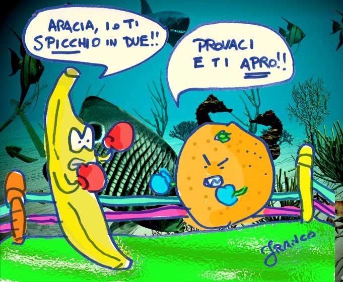 Semplicemente franco vignetta e poesia di satira politica - Frutta che fa andare in bagno ...