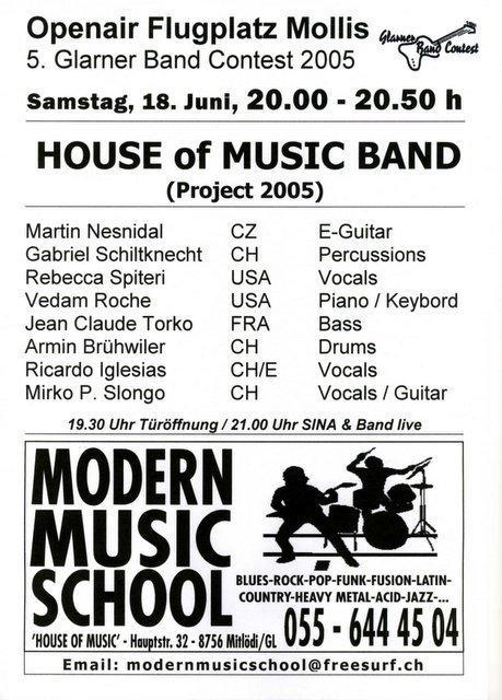 Modern music school glarnerland musikunterricht for House music 2005