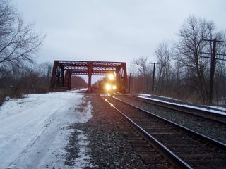 Looking East on the Mohawk Division Mainline at the West Canada Creek bridge