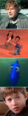 sam, stitch, dory and cole