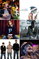 top left to bottom right... ben, gorillaz, kanye, josh, bloodhound gang and cat empire