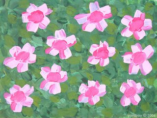 pink flowers 2006