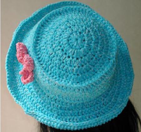 Free Crochet Pattern For Easter Bonnet : Cap Karma: Lily Chin Easter Bonnet (Crochet)