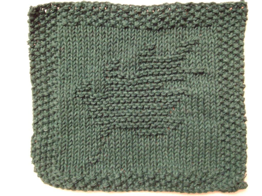 Oak Leaf Knitting Pattern Free : Oak Leaf Dishcloth ~ smariek knits