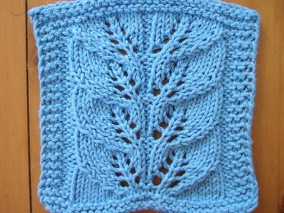 Twin Leaf Lace Cloth ~ smariek knits