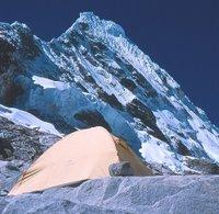 Black Diamond Firstlight Tent below Pirimide