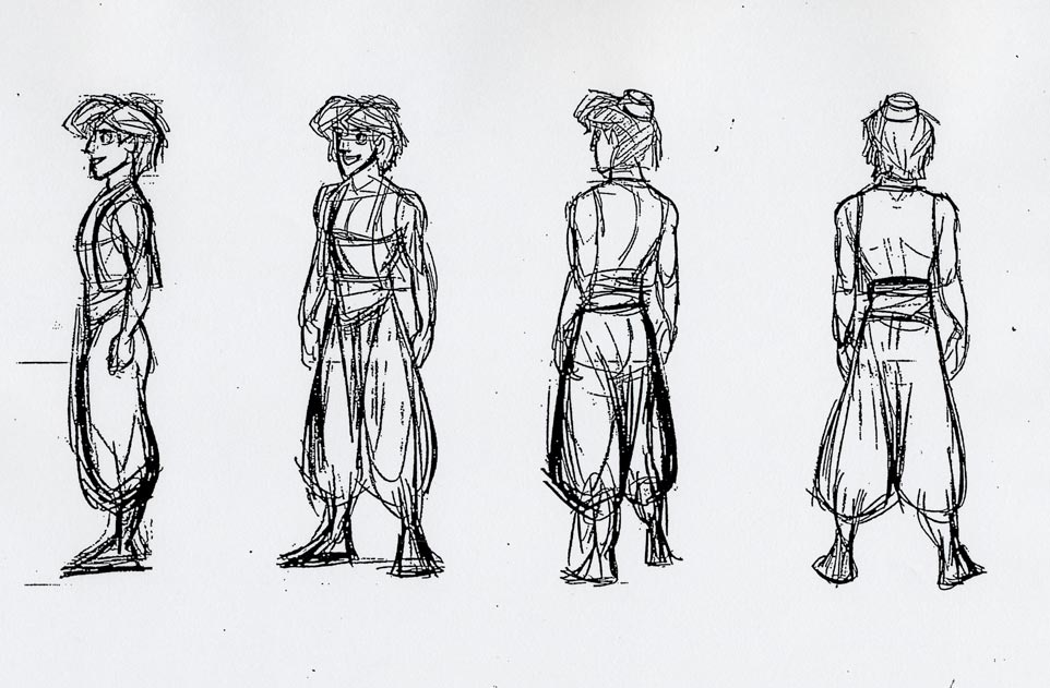 Character Design Layout : The art of glen keane aladdin