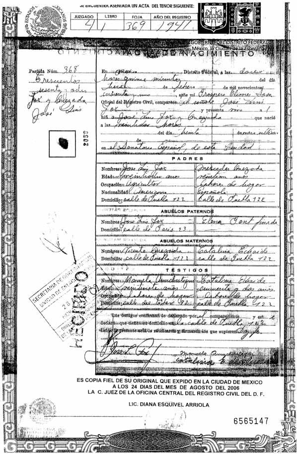 Contemporáneo Copia Del Certificado De Nacimiento Louisiana Regalo ...