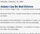 Asians Can be Bad Drivers