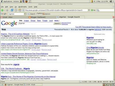 Nigerian Google Search