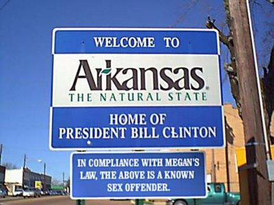 In Compliance with Megan's Law, the above is a known sex offender. - Bill Clinton - Funny Sign/Picture