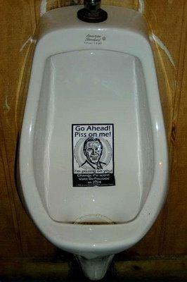 Pee on Bush - Funny Pic