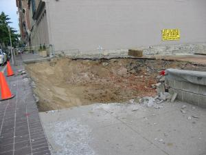 Parker Flats excavation West Fourth St. Cincinnati, Ohio