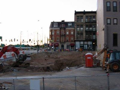 Parker Flats excavation August 2006