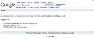 Ce que vous verrez si vous n'êtes pas dans l'index de Google