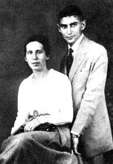 Franz com Felice Bauer em Budapeste em 1917