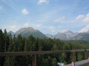 High Tatras seen from hotel room