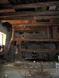 Living room with mill wheel