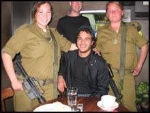 American Apparel's Dan Abenaim scouting for new locations in Jerusalem.
