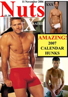 lads mag nuts 2007 calendar hunks