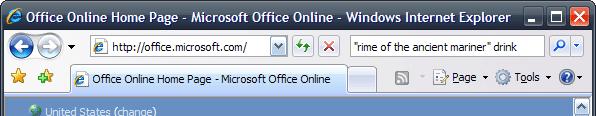 Internet Explorer 7 toolbar