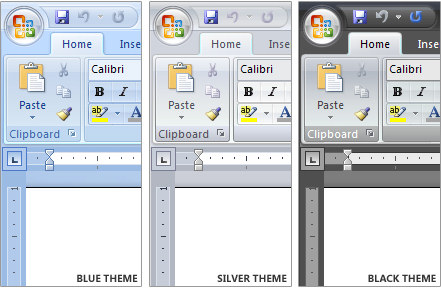 Screenshots of Office 2007
