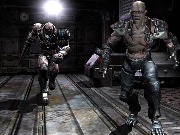 Screenshot: Quake 4 enemies