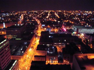 Baltimore in the night