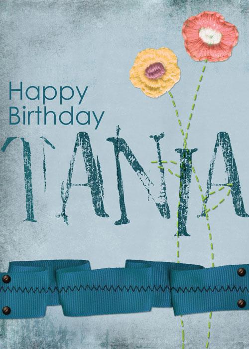 Happy birthday Tania!
