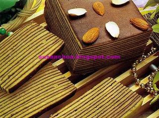 Nonya Kueh and Cake Recipes - Almond Layered Cake
