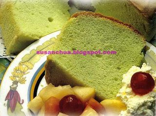 Nonya Kueh and Cake Recipes - Pandan Cake