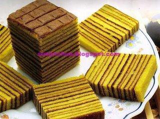 Nonya Kueh and Cake Recipes - Pandan Layered Cake