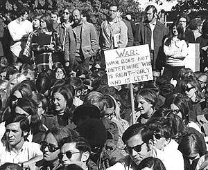 A protest in 1968