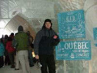 Chris at the Ice Hotel