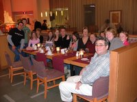 An Aussie dinner group at the Quebec Hilton