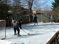 The Coulter's backyard rink